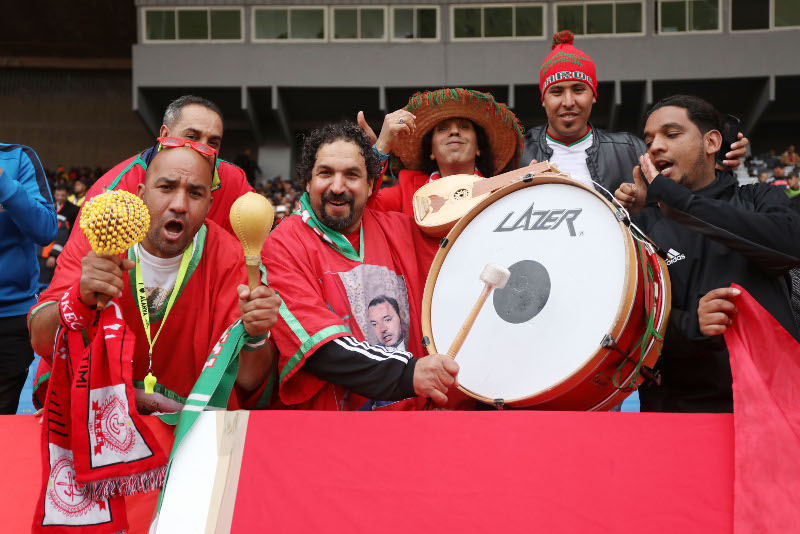 Morocco Fans during the 2018 Chan football game between Morocco and Guinea at Stade Mohammed V in Casablanca, Morocco on 17 January 2018 ©Gavin Barker/BackpagePix